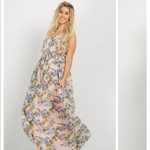 PinkBlush *New* Floral Pleated Maxi